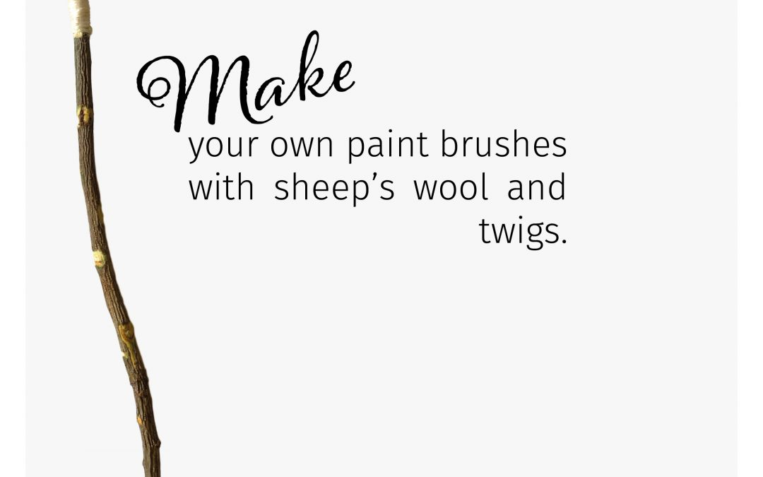 Making your own sheep's wool paint brushes